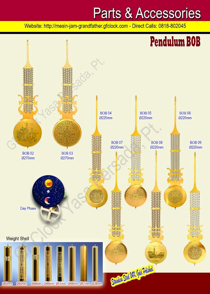 Aksesoris Mesin Jam dan Pendulum