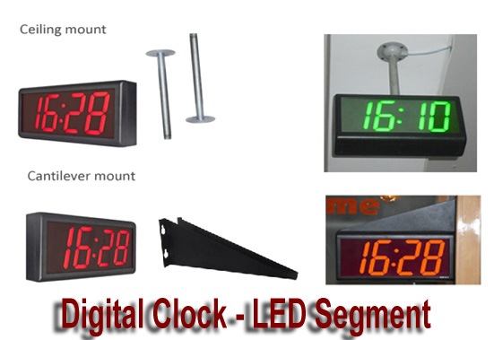 LED Digital Clock mounting