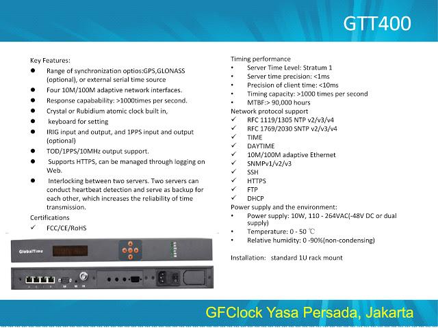 Master Clock Server GTT400
